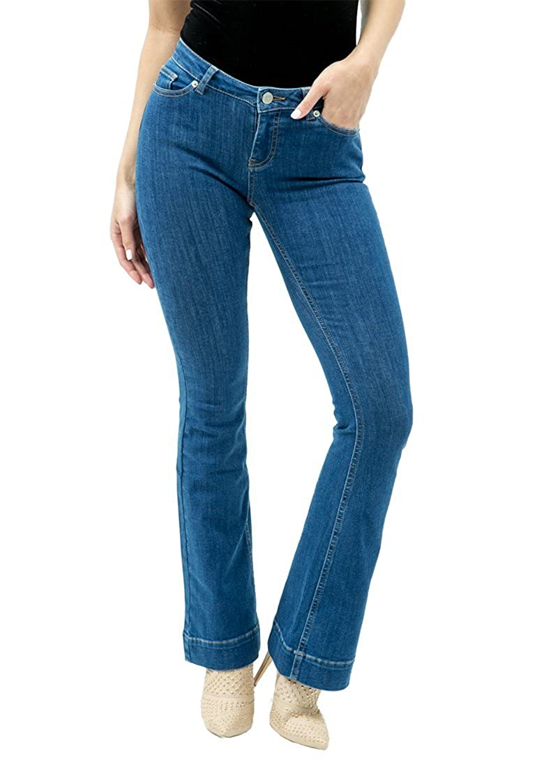 Womens Modern Bootcut Stretch Jeans