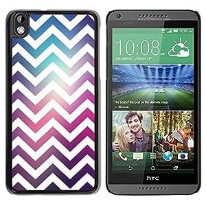 Be Good Phone Accessory // Dura Cáscara cubierta Protectora Caso Carcasa Funda de Protección para HTC DESIRE 816 // Zag White Disco Party Pattern