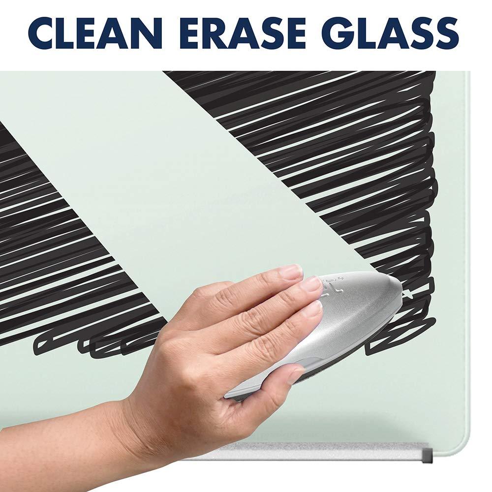 Glass Whiteboard Infinity Portable Magnetic Adjustable Quartet Easel ECM32G 3 x 2 Flip Chart Holder