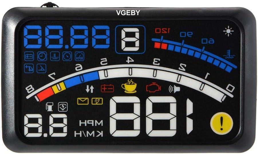 VGEBY Universal HUD GPS Head Up Display para Auto Mit OBD II EUOBD Plug & Play Controller Bildschirm