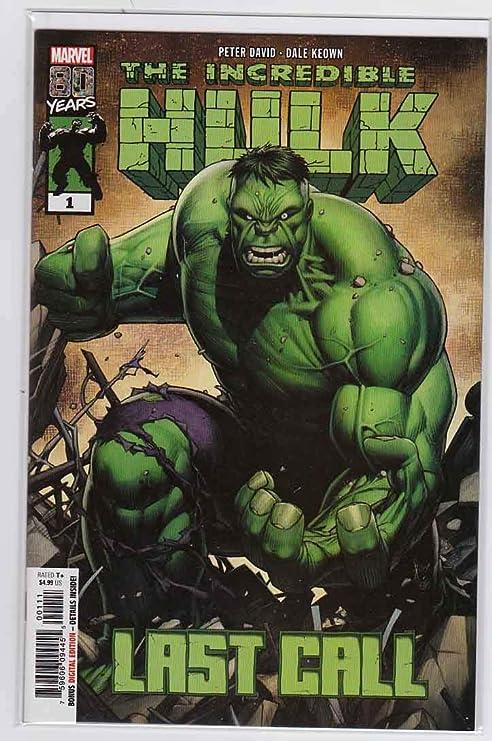 #1 MARVEL COMICS  Peter David Keown COVER A 2019 Last Call Incredible Hulk