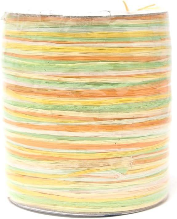 Homeford Premium Pastel Multicolored Raffia Mint Made in Germany 55-Yard