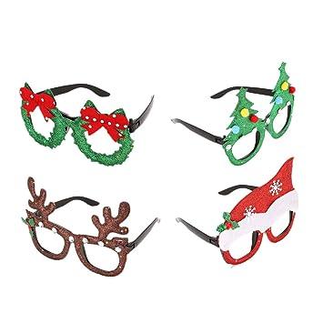 STOBOK Weihnachten Brille Lustige Weihnachtsbaum Geweihe Mütze ...