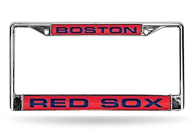 Boston Red Sox láser marco metal cromado Placa de Licencia para ...