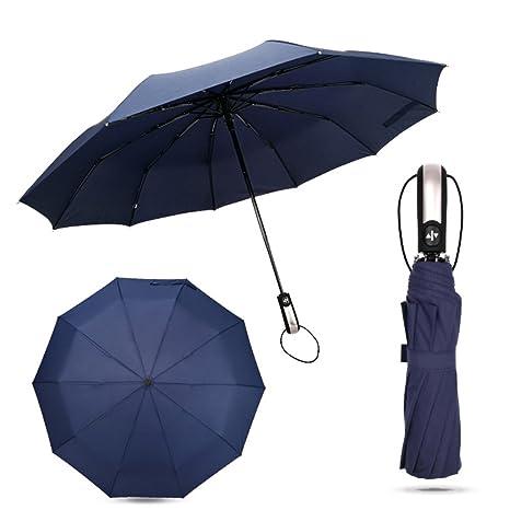 Paraguas plegables y compacto,xhforever de Diámetro Grande Paraguas Automatico Paraguas Plegable Antiviento Paraguas Viaje