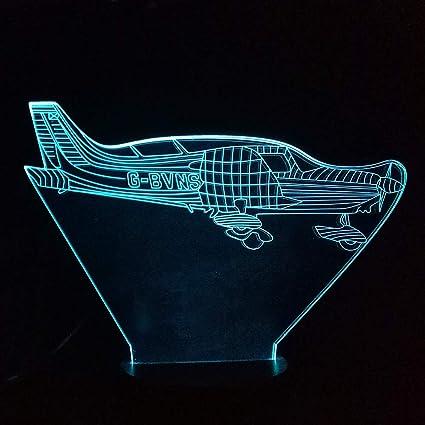 comprar BFMBCHDJ Lámpara de avión 3D 7 colores LED Luz nocturna Interruptor táctil remoto Lámpara de mesa de avión de aire USB para el hogar Decoración de Navidad Regalo