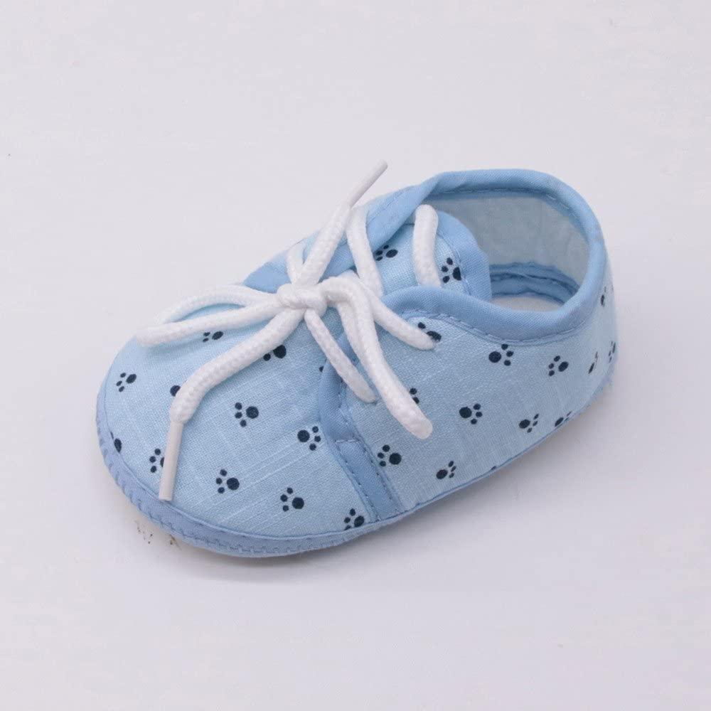 Lurryly Baby Boys Girls Floral Sneaker Anti-Slip Ball Solid Toddler First Walkers Shoes
