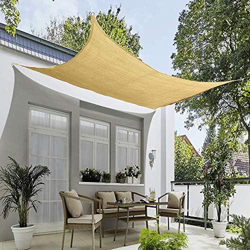 シャドウセイルレクタングル 5.5x6.5m, シャドウセイル 通気性 90%UVカット 日焼け防止と防風 強い引き裂き抵抗 庭園、バルコニー、キャンプ、パーティーに最適 - 白色 185GSM