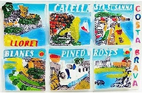 Magnet relieve De colección España 6 ciudades Costa Brava: Amazon.es: Equipaje