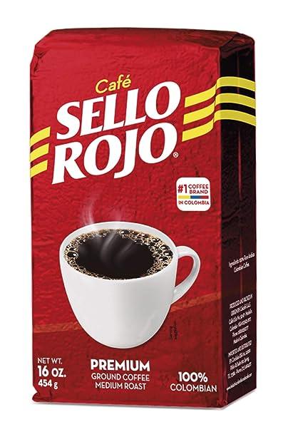 Sello Rojo, café tostado y molido-10 onzas: Amazon.com ...