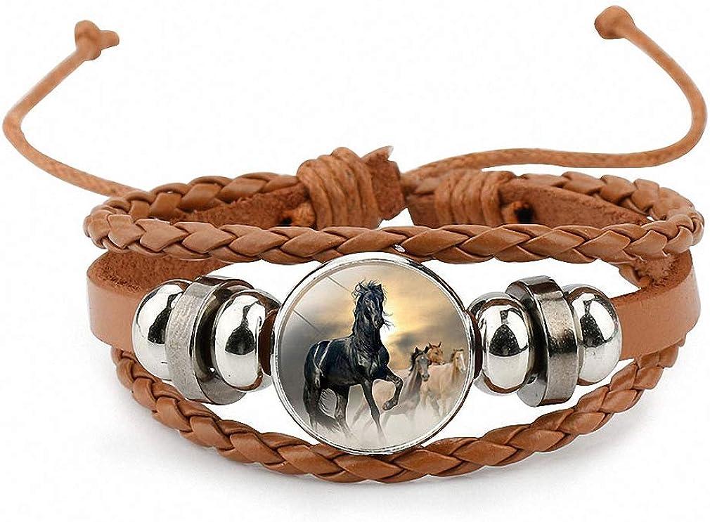 Horses Photo Glass Cabochon...