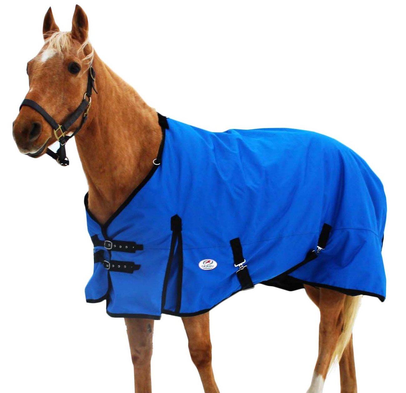 Derby Originals 1200D Heavy Duty Winter Horse Turnout Blanket, 72'', Blue