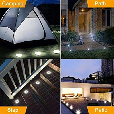 Shonlinen 3-LEDs Solar Buried Lights Lawn Lights Outdoor Garden Decoration Floor Lamps White: Clothing