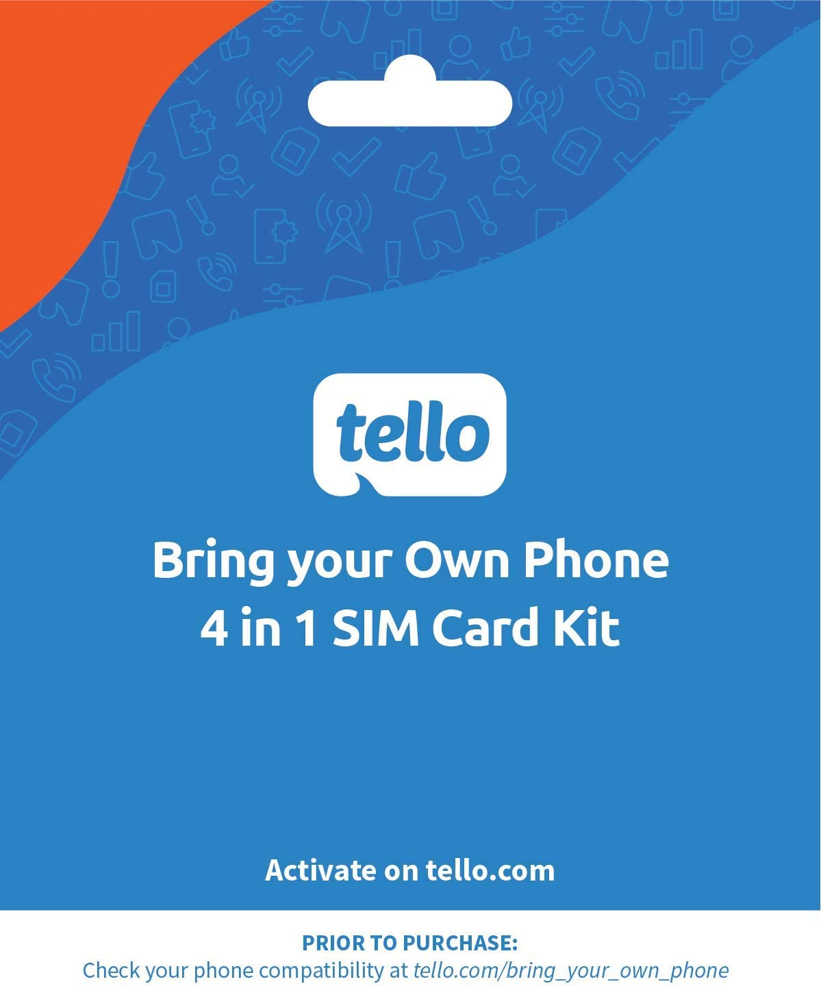 Tello Mobile - Bring Your Own Phone - 4 in 1 SIM Card Kit