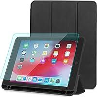 Pengpower Funda para iPad 9.7 2018/2017/ipad Air/iPad Air 2 y Protector de Pantalla para iPad 9.7 2018/2017(9.7, Black)