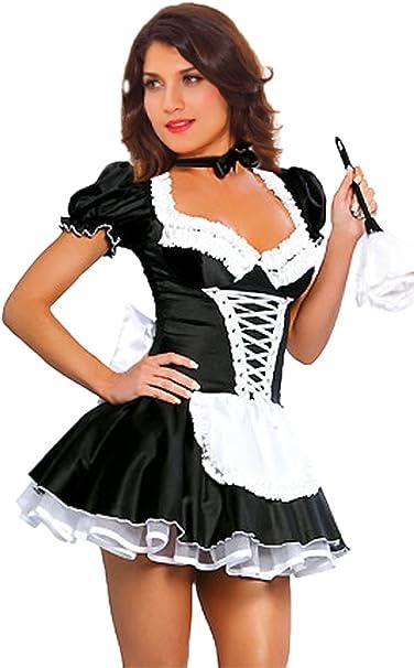 Amazon.com: JJ-GOGO - Disfraz de sirvienta francesa para ...