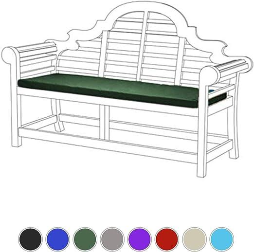Gardenista Lutyens - Cojín para bancos de jardín, 3 plazas, material resistente al agua, relleno de espuma gruesa, ligero y cómodo (verde): Amazon.es: Jardín