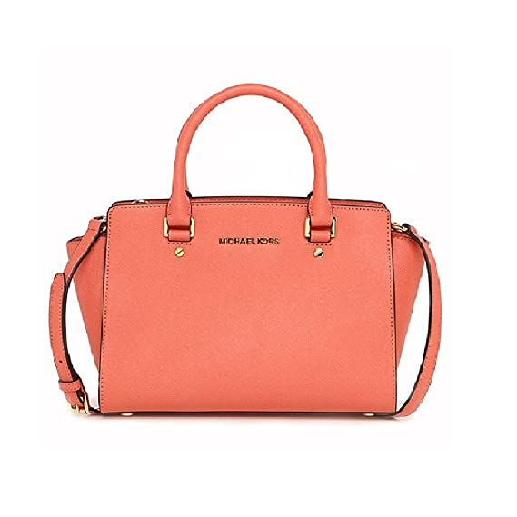 5e133b965485 MICHAEL KORS WOMAN HAND BAG WITH SHOULDER BELT CORAL CODE 30S3GLMS2L SELMA  UNICA - ONE SIZE