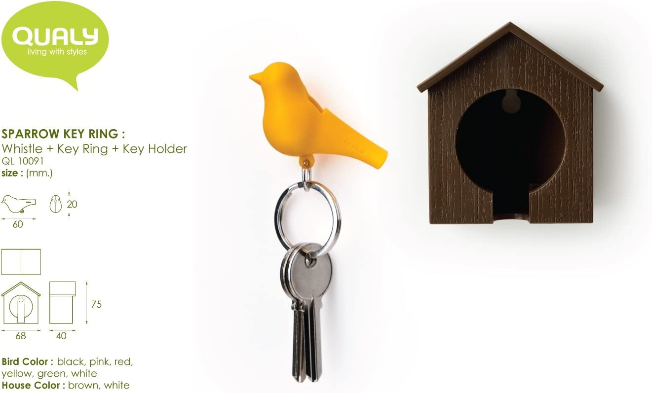 Sparrow e birdhouses portachiavi Qualy
