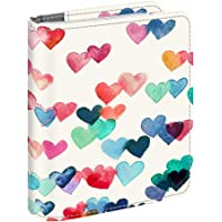 Fintie Mini Photo Album for Fujifilm Instax - 104 Pockets Photo Album for Fujifilm Instax Mini 9 Mini 8 Mini 90 Mini 25, Polaroid Snap PIC-300, HP Sprocket, Kodak Mini 3-Inch Film, Raining Hearts