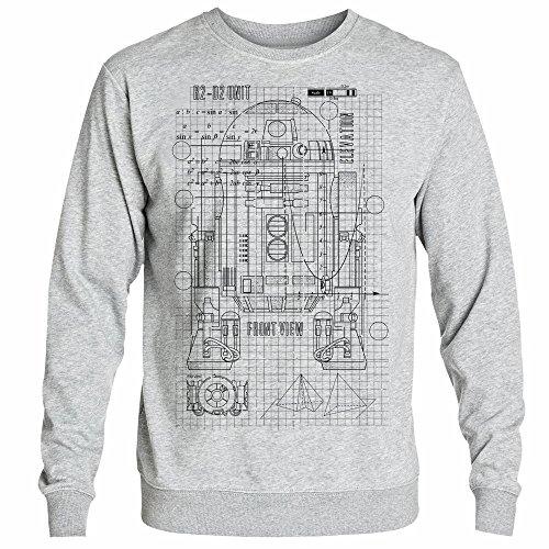 7b30e706a6c Inspired R2-Droid Astromech Droid Blueprint Design Star Galaxy war D2  Printed Sweatshirt - Buy Online in Oman.