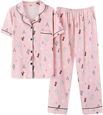 Tinsinss Pijama de algodón Pijama de la Muchacha de Las ...
