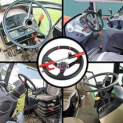 OKLEAD Anti-Theft Steering Wheel Lock Handbrake Lock Adjustable Twin Hooks Lock Security for Truck Car SUV: Automotive