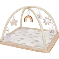little dove Baby Gym and Infant Play Mat Rainbow Design for Newborn Stage-Based Developmental Activity Gym for Toddlers Aged 0 to 3 6 9 12 Months Old Babies with 7 Toys