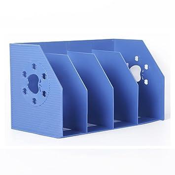 Caja de Almacenamiento de Escritorio Estantería Ordenando sujetalibros Archivo Escritorio de Estante Estantes ordenados Papelería de
