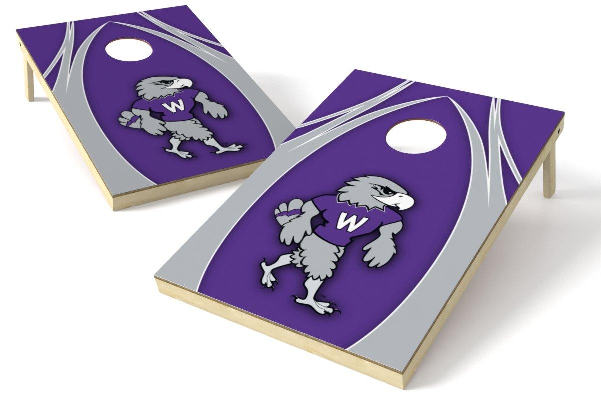 NCAA 2 x 3 プラチナム カレッジ V ウッド テールゲート トス B010XFYNXG Wisconsin-Whitewater Wisconsin-Whitewater