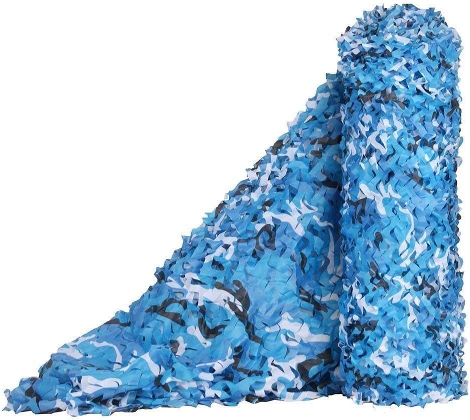迷彩ネットキャンプ狩猟射撃ブラインド迷彩ネットウッドランドの室内装飾、海の迷彩シェーディングネッティング車のカバーガーデンパーゴラ日焼け止めネット ZHAOFENGMING (Color : 青, Size : 5×6M) 青 5×6M