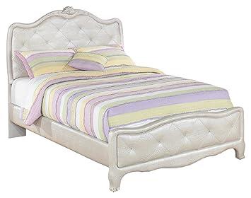 Ashley Furniture Signature Design   Zarollina Youth Upholstered Bedset    Full Size Bed   Silver U0026