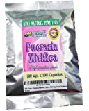 100 Caps. Pueraria Mirifica Powder Root Pure 100% Breast Augmentation 500 Mg. From Thailand