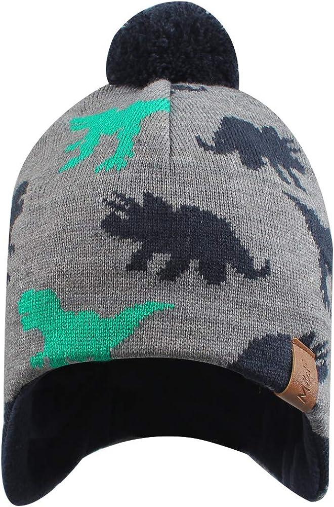 Iridescentlife Toddler Winter Hat for Boys Warm Baby Girl Beanie Fleece Infant Knit Snow Caps for Newborn