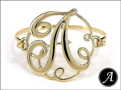 Jewelry Damen Nexus Ein Monogramm filigranen Designer Goldfarbene ...