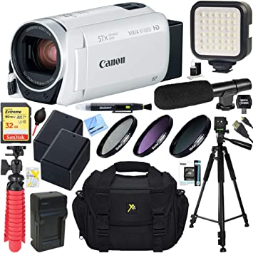 HF R82 HF R80 Video Stabilizer Kit For Canon VIXIA HF R700 HF R72 HF R800 Camcorder Includes Stabilizer Mini Zoom Shotgun Microphone w//Mount LED Video Light LED Light Kit HF R70 Microphone