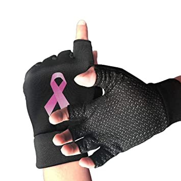 Amazon com : large-scale Non-Slip Half Finger Cycling Gloves Pink