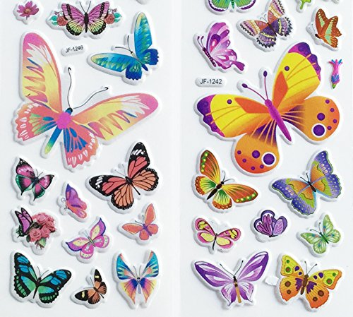 3 Sheets Butterfly Puffy Stickers by PIP -