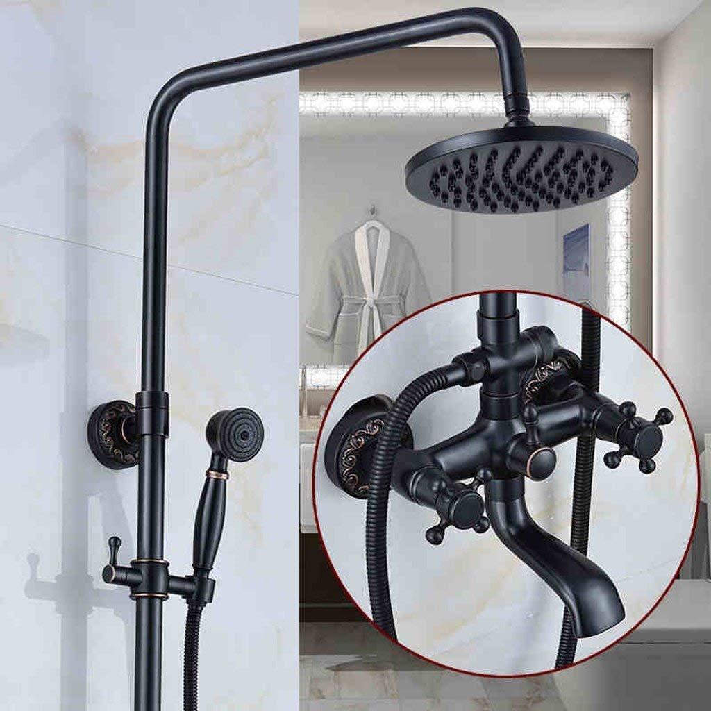 A2 Shower set European Style Black Antique Pressurized Full Copper Faucet (Size   A3)