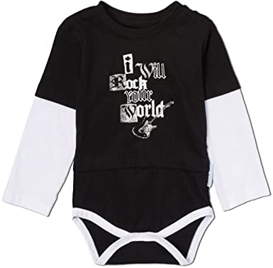 d17a0b245 Amazon.com  Silly Souls I Will Rock Your World Baby Onesie Black ...