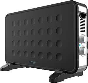 Cecotec Radiador Eléctrico Bajo Consumo Ready Warm 6550 Turbo Design. 2000 W, Termostato regulable, 4 Modos, Turboventilador, Soporte de pie, Protección sobrecalentamiento, Silencioso