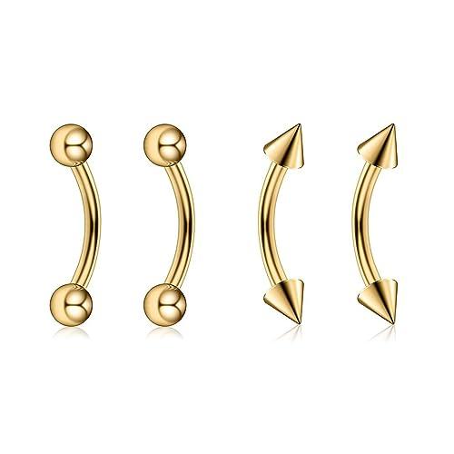 Body Jewellery 4g 5/8 Circular Barbell Horseshoe Ball Steel  PA  8MM Externally Threaded Fashion Jewellery