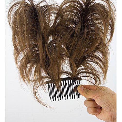 Merrylight Ladies Messy Bun Hair Piece Hair Extensions Hair Bun Ponytail Hairpiece (Dark Mixed Golden Brown-T4/12)