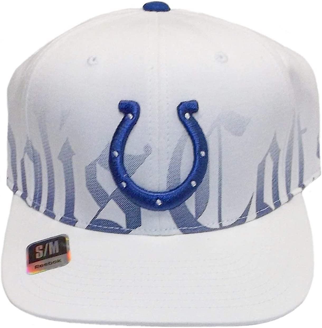 One Size White OTS NFL Indianapolis Colts Mens Challenger Adjustable Hat