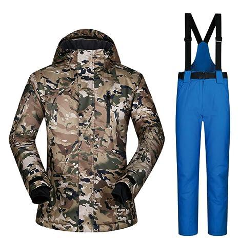 Zjsjacket Traje de esqui Traje de esquí para hombre Ropa de ...