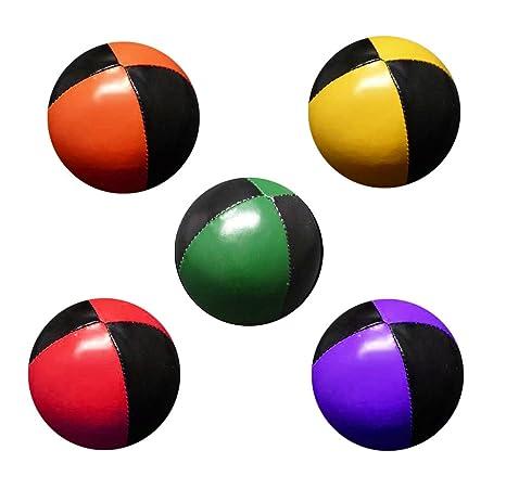 Set 5 malabares pelotas de 62mm 90g cada una (Bi-color) negro y