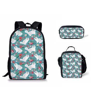 d33674e455 Voxge Bookbag Casual School Backpack Cute Schoolbag Laptop Shoulder Bag  Daypack for Girls Boys