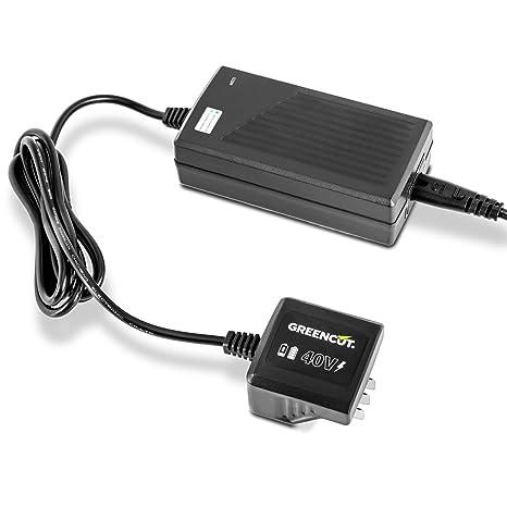 Greencut CHAR-40V - Cargador para baterías de lítio de 2,0Ah y 4,0Ah, 40V