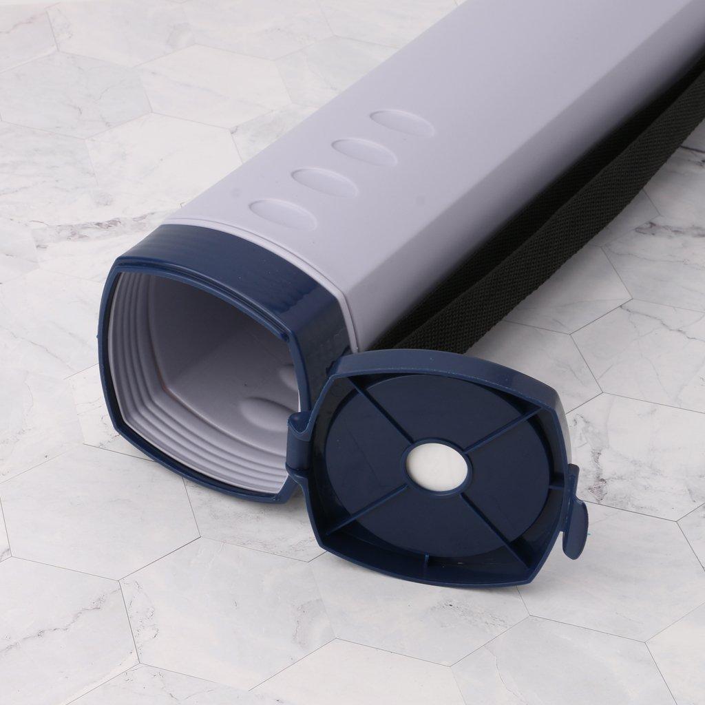 Yanhonin Dokumentenaufbewahrung Tube Kunststoff ausziehbar Poster//Art R/öhren verstellbar mit Tragegurt wasserdicht und Teleskoplicht Transporttasche beige
