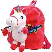 Unicorn Toddler Backpack for Kids, Cute Snack Travel Bag Preschool Shoulder Bag Stuffed Doll Toy Gift for 1 2 3 4 5 Year Old Girls